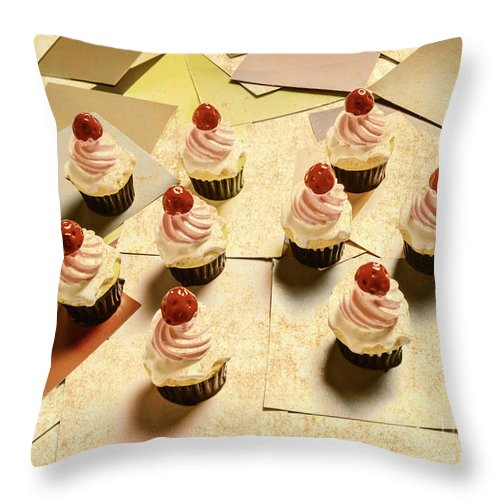 Cake Throw Pillow featuring the photograph Foodie Nostalgia by Jorgo Photography - Wall Art Gallery