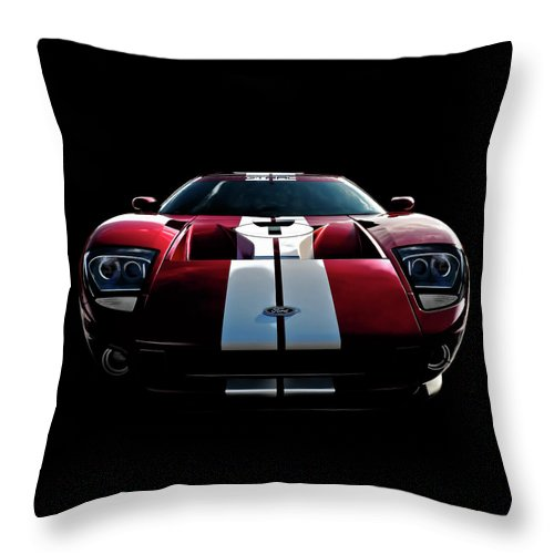 Ford Gt Throw Pillow featuring the digital art Ford Gt by Douglas Pittman