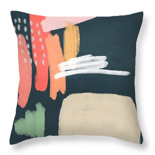 Modern Throw Pillow featuring the mixed media Fragments 2- Art by Linda Woods by Linda Woods
