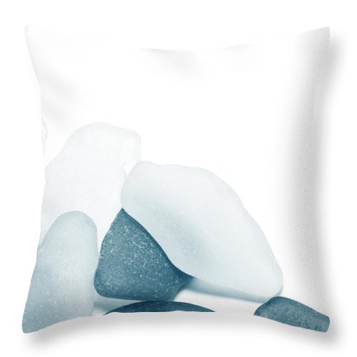 Cool Attitude Throw Pillow featuring the photograph Fresh Glass Stones by Caracterdesign