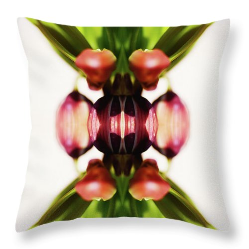 Bud Throw Pillow featuring the photograph Fritillaria Flower by Silvia Otte