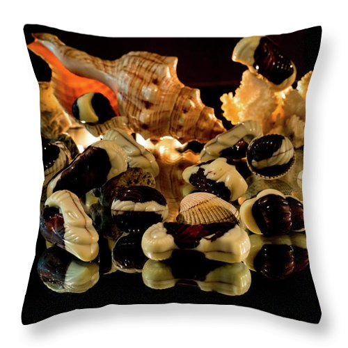 Candy Throw Pillow featuring the photograph Frutti Di Mare by Mila Vasileva