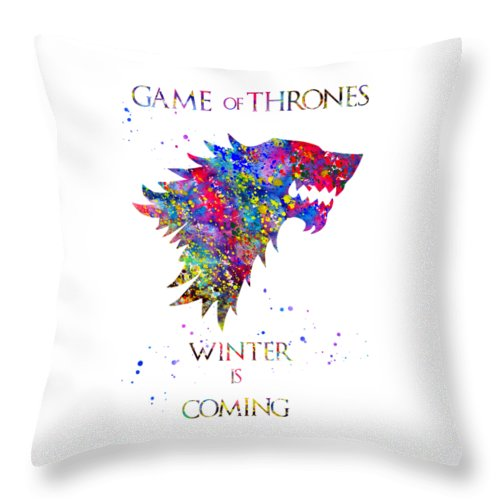 Game Of Thrones Throw Pillow featuring the digital art Game Of Thrones by Erzebet S