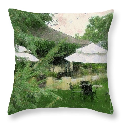 Gentility Throw Pillow featuring the painting Gentility Impression by Bonnie Marie -