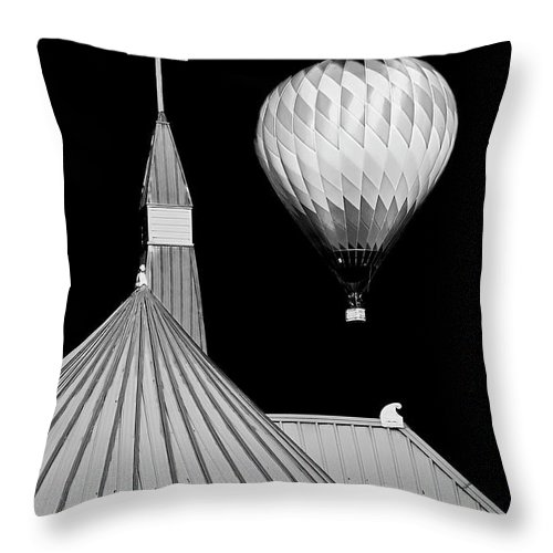 Geometric Throw Pillow featuring the photograph Geometric Patterns at Balloon Fest by Zayne Diamond Photographic