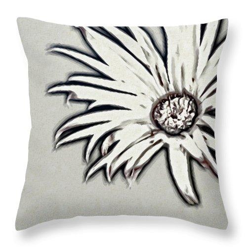Rockville Throw Pillow featuring the photograph Gerbera Flower Shape by Maria Mosolova