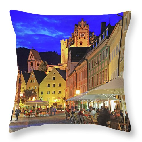 Scenics Throw Pillow featuring the photograph Germany, Bavaria, Füssen by Hiroshi Higuchi
