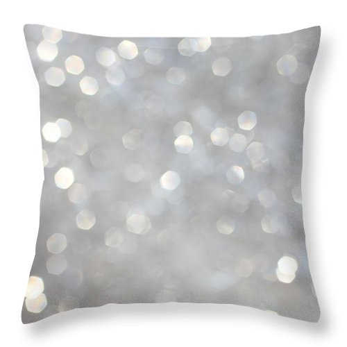Holiday Throw Pillow featuring the photograph Glittery Background by Merrymoonmary