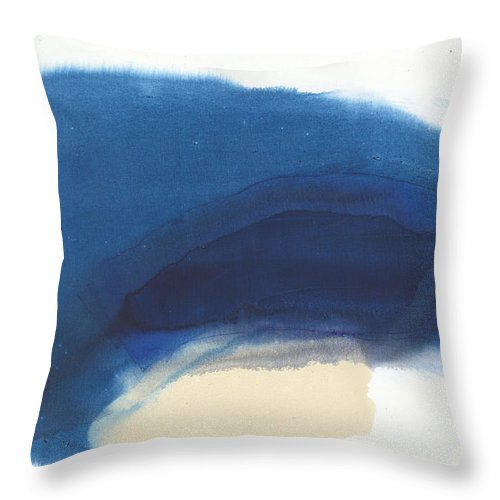 Abstract Throw Pillow featuring the painting Go Easy by Claire Desjardins