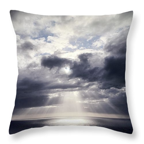Scenics Throw Pillow featuring the photograph Gods Above Us by Ioseph