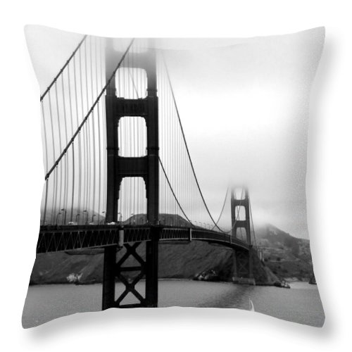 San Francisco Throw Pillow featuring the photograph Golden Gate Bridge by Federica Gentile