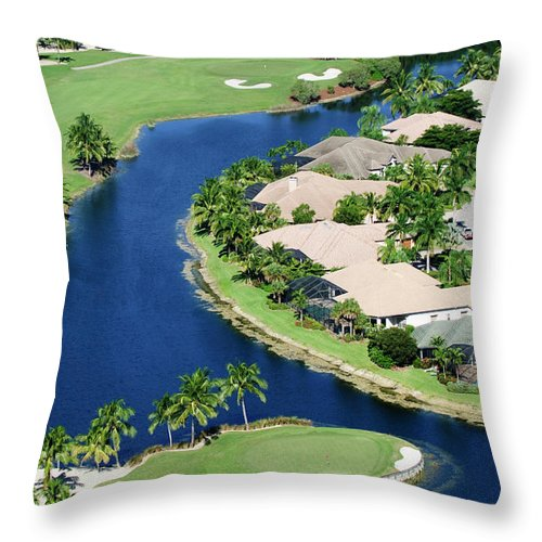 Recreational Pursuit Throw Pillow featuring the photograph Golf Course Community by Negaprion