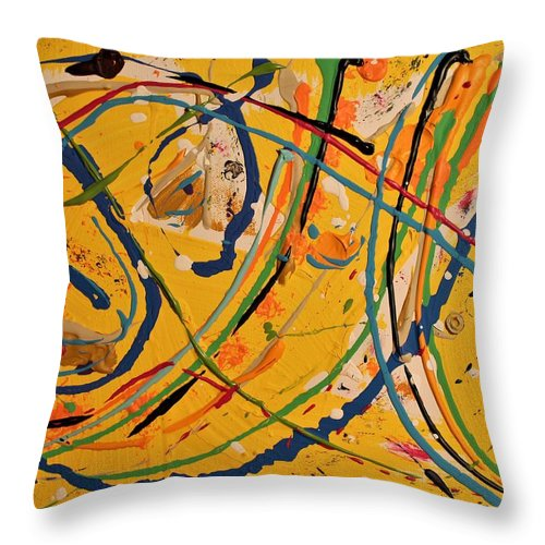 Colorado Throw Pillow featuring the painting Gone Fishing by Pam Roth O'Mara