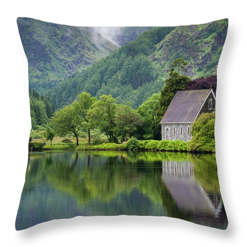 Tranquility Throw Pillow featuring the photograph Gougane Barra Forest Park And Lake by Bradley L. Cox