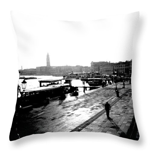 Italy Throw Pillow featuring the photograph Grand Canal At Sunset by Dick Goodman