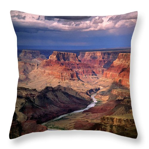 Scenics Throw Pillow featuring the photograph Grand Canyon, Arizon, Usa by Michael Busselle