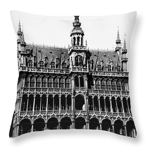 15th Century Throw Pillow featuring the photograph Grand Palace, Brussels by Granger