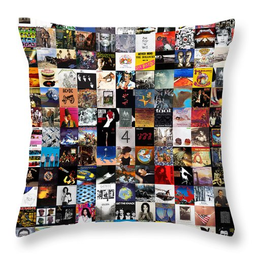 Album Covers Throw Pillow featuring the digital art Greatest Album Covers of All Time by Zapista OU