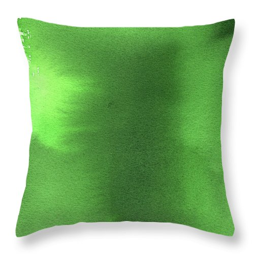 Watercolor Painting Throw Pillow featuring the digital art Green Background Watercolor Painting by Taice