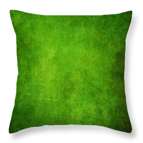 Stained Throw Pillow featuring the photograph Green Grunge Background by Mammuth