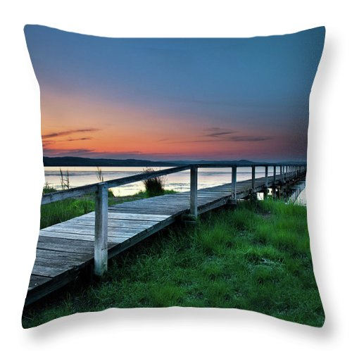 Tranquility Throw Pillow featuring the photograph Greener On The Other Side by Photography By Carlo Olegario