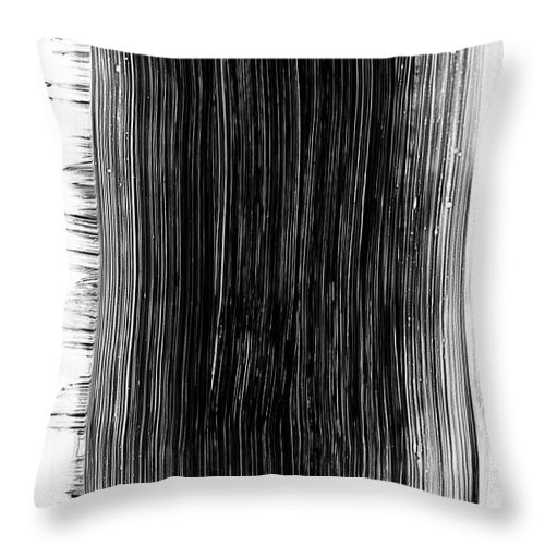 Art Throw Pillow featuring the photograph Grunge Black Paint Brush Stroke by 77studio