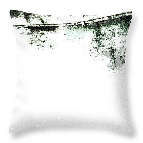 Material Throw Pillow featuring the photograph Grunge Border by Akirastock