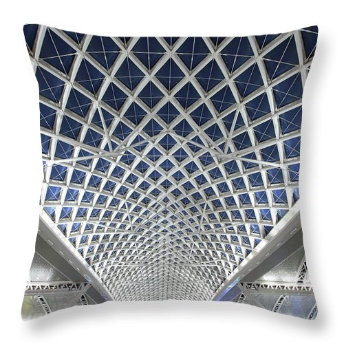 Chinese Culture Throw Pillow featuring the photograph Guangzhou Railway Station by Real444