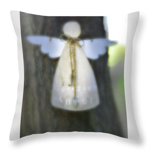 Angel Throw Pillow featuring the photograph Guardian Angel by Elaine MacKenzie