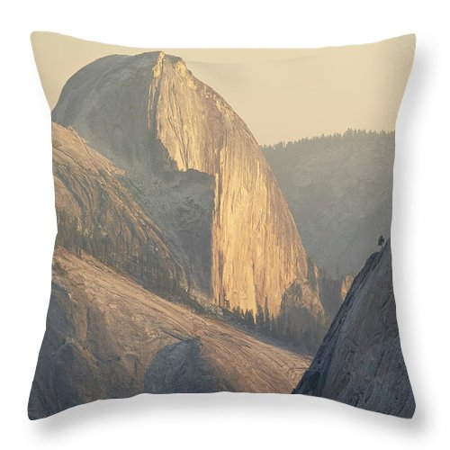 Scenics Throw Pillow featuring the photograph Half Dome At Sunset, Olmsted Point by James Hager / Robertharding
