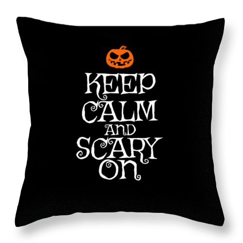 October Throw Pillow featuring the digital art Halloween Costume Funny Apparel by Michael S