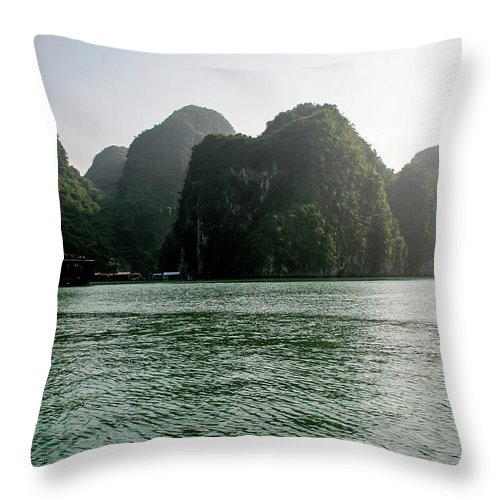 Scenics Throw Pillow featuring the photograph Halong Bay by Rafax