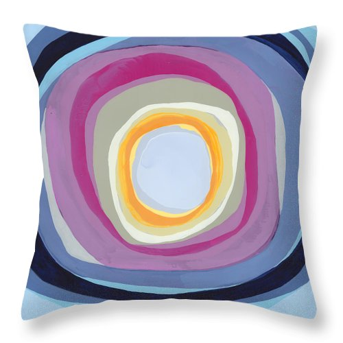 Abstract Throw Pillow featuring the painting Hang Cool by Claire Desjardins