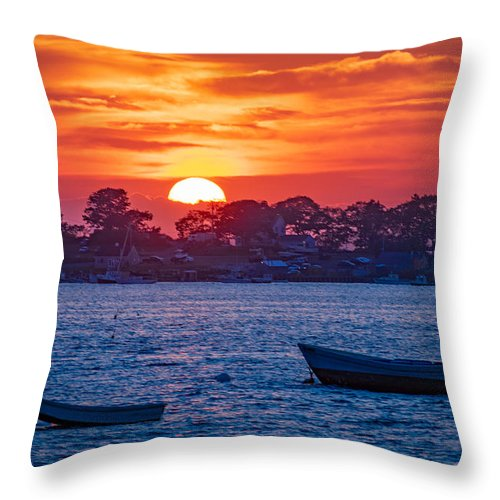 Harpswell Throw Pillow featuring the photograph Harpswell Sunset by Richard Plourde