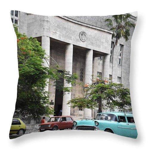 Havana Throw Pillow featuring the photograph Havana by Cassidy Marshall