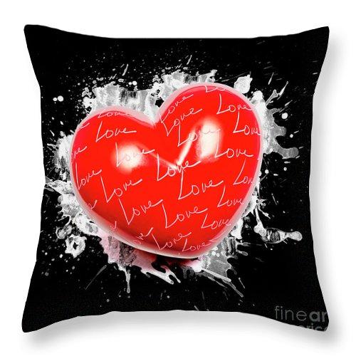 Love Throw Pillow featuring the photograph Heart Art by Jorgo Photography - Wall Art Gallery