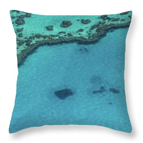 Panoramic Throw Pillow featuring the photograph Heart Reef, Great Barrier Reef by Francesco Riccardo Iacomino