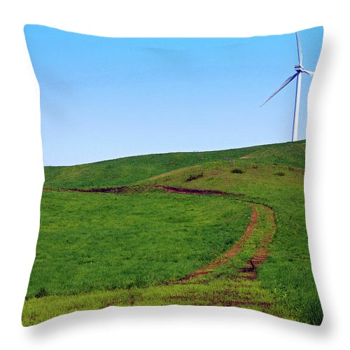 Environmental Conservation Throw Pillow featuring the photograph Hill by The Landscape Of Regional Cities In Japan.