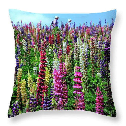 Scenics Throw Pillow featuring the photograph Hokkaido by Frank Chen