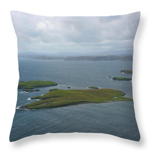 Tranquility Throw Pillow featuring the photograph Holm, Stornoway, Isle Of Lewis by Donald Morrison