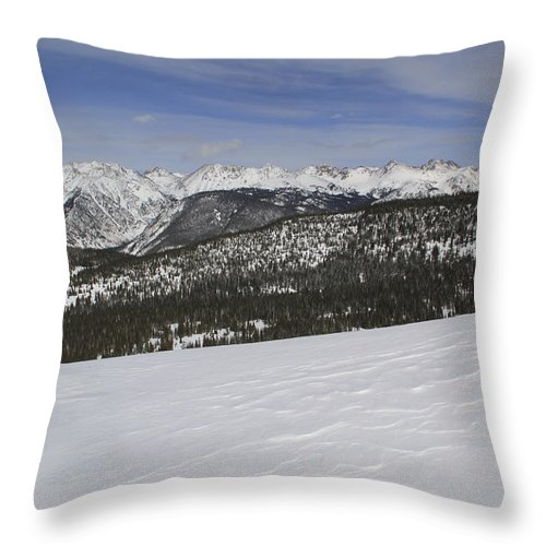 Scenics Throw Pillow featuring the photograph Holy Cross Wilderness Area In Winter by John Kieffer