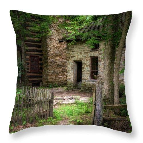Homestead Throw Pillow featuring the photograph Homestead by Tom Mc Nemar