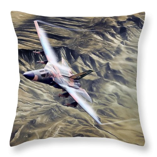 Aviation Throw Pillow featuring the digital art Hot As Hell by Peter Chilelli