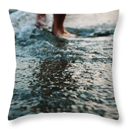 Human Feet Walking In Water Throw Pillow For Sale By Grace Oda