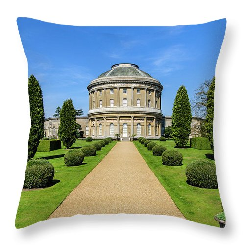 Young Girl Throw Pillow featuring the photograph Ickworth House, Image 14 by Jonny Essex
