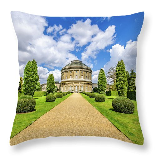 Young Girl Throw Pillow featuring the photograph Ickworth House, Image 18 by Jonny Essex