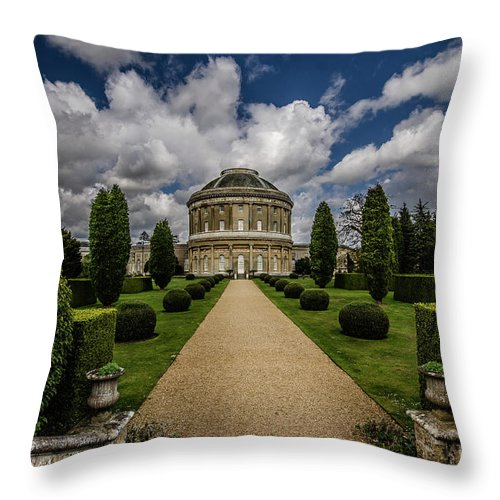 Young Girl Throw Pillow featuring the photograph Ickworth House, Image 31 by Jonny Essex