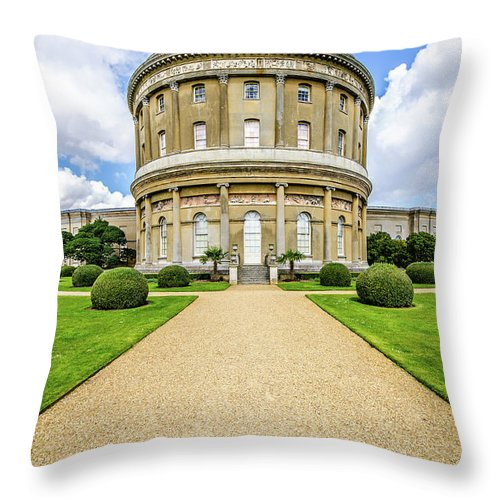 Young Girl Throw Pillow featuring the photograph Ickworth House, Image 36 by Jonny Essex