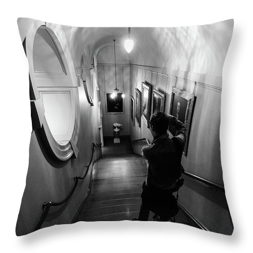 Young Girl Throw Pillow featuring the photograph Ickworth House, Image 37 by Jonny Essex