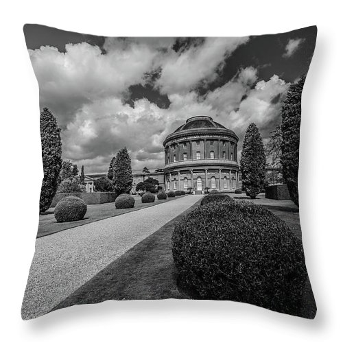 Young Girl Throw Pillow featuring the photograph Ickworth House, Image 40 by Jonny Essex